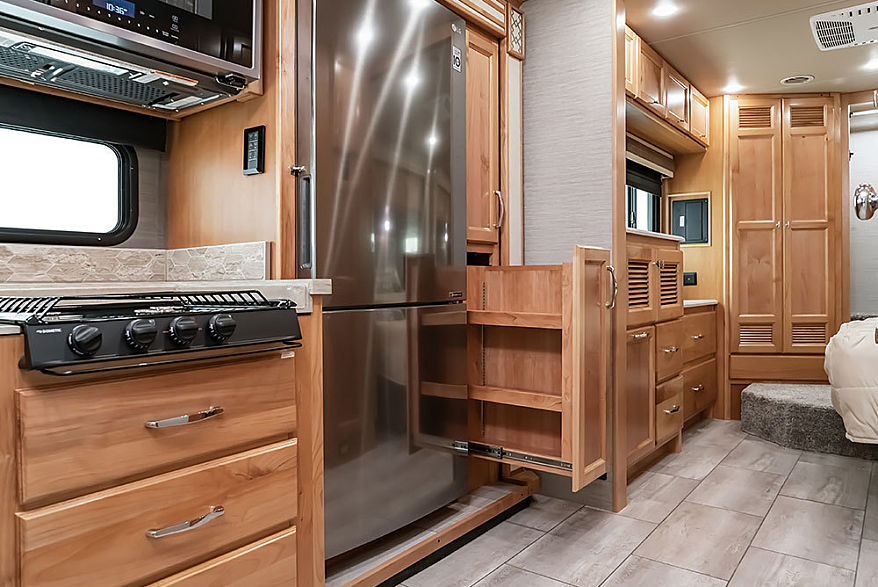 2021 Allegro Red slide out pantry